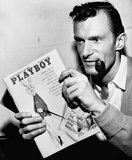 "Hugh Hefner, a University of Illinois alum, and Playboy turned a modest America on its ear with photographs of beautiful nude women mixed with provocative writing. Date on magazine is June 1963. (Chicago Tribune photo by John Austad) ..OUTSIDE TRIBUNE CO.- NO MAGS, NO SALES, NO INTERNET, NO TV, CHICAGO OUT.. ""Chicago Days"" 00288152A 150 year images"
